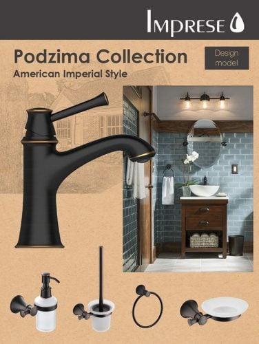 Дизайнерская коллекция смесителей и аксессуаров Podzima от Imprese