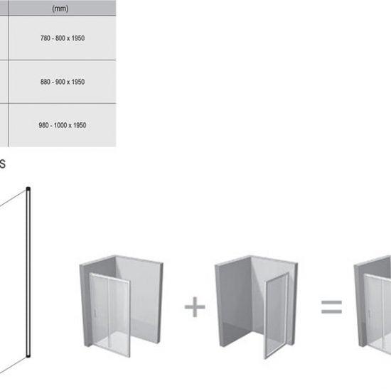 Душевой уголок и дверь Ravak Chrome CPS