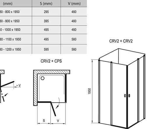 ДушевойуголокидверьRavakChromeCRV+CPS
