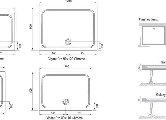 Литьевой мрамор Ravak Gigant Pro Chrome
