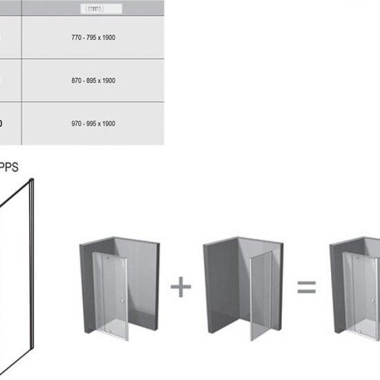 Душевой уголок и дверь Ravak Pivot PPS
