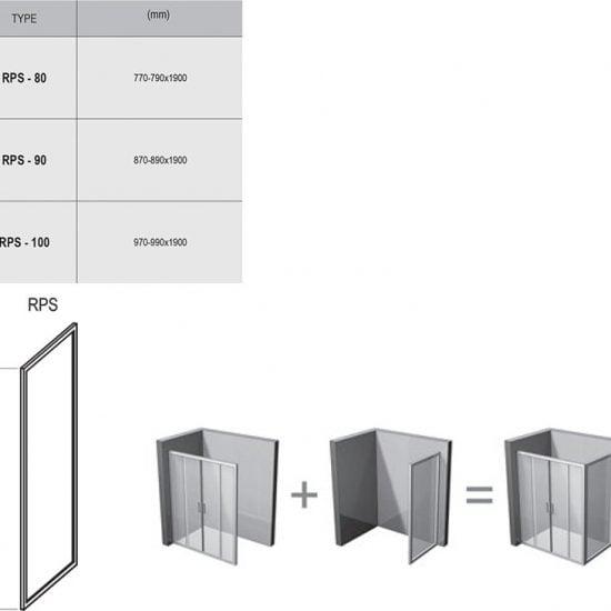 Душевой уголок и дверь Ravak Rapier RPS