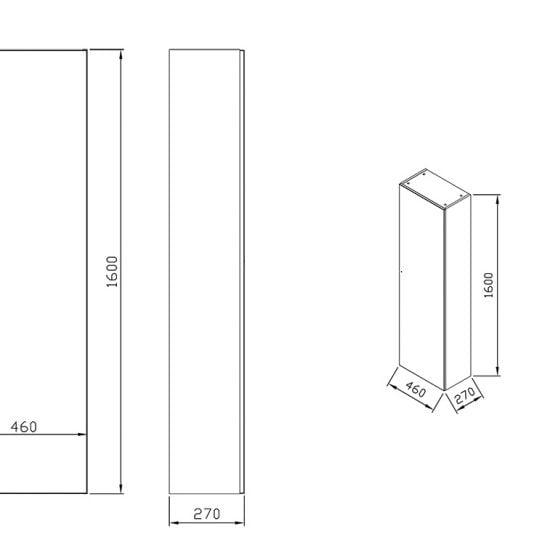 Боковой шкаф Ravak Formy