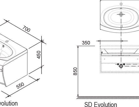 Тумба Ravak SD Evolution с полотенцедержателем