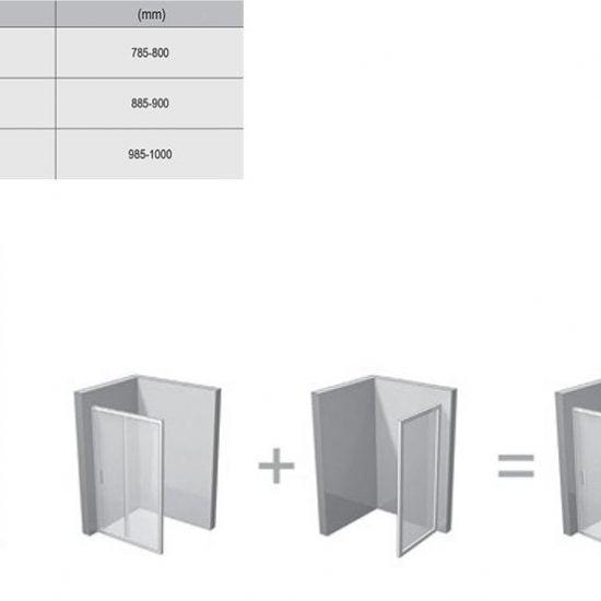 Душевой уголок и дверь Ravak SmartLine SMPS