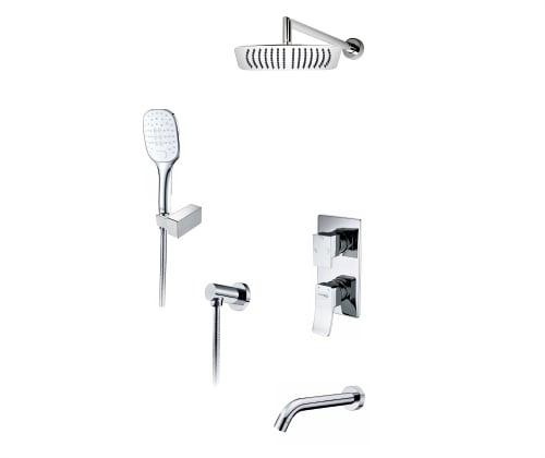 171619 Встраиваемый комплект для ванны с верхней душевой насадкой, лейкой и изливом